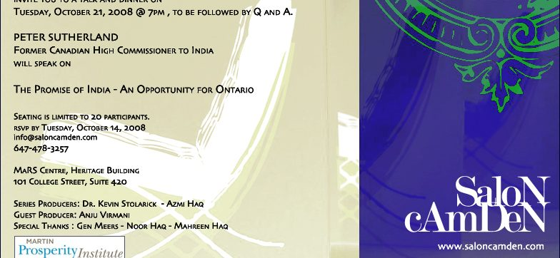 THE PROMISE OF INDIA:  An Opportunity for Ontario