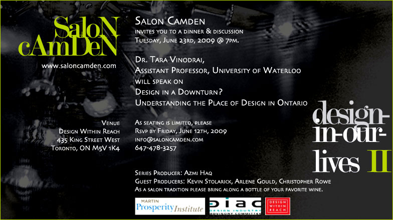 DESIGN IN A DOWNTURN?  Understanding the Place of Design in Ontario