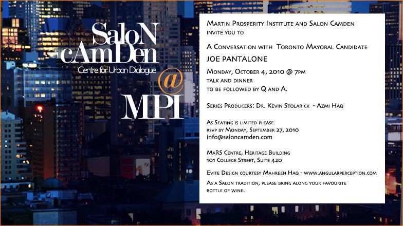 A Conversation with Toronto Mayoral Candidate Joe Pantalone